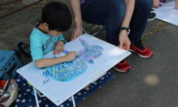 5月例会(第43回山の都親子ふれあい写生大会)が行われました。